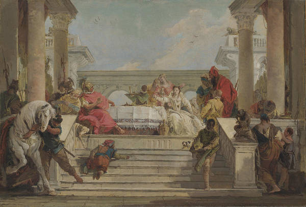 Painting - The Banquet Of Cleopatra  by Giovanni Battista Tiepolo