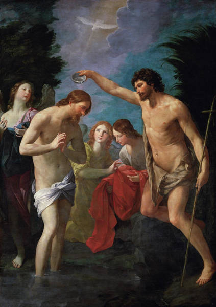 Initiation Painting - The Baptism Of Christ by Guido Reni