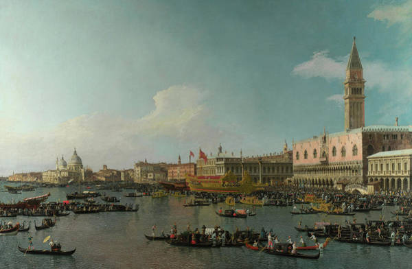 Moor Painting - The Basin Of San Marco On Ascension Day by Canaletto