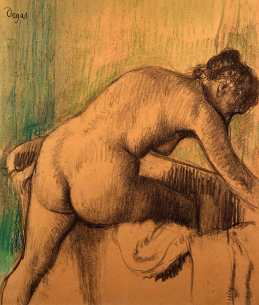 Beautiful Girl Drawing - The Bath by Edgar Degas