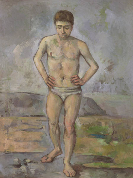 Wall Art - Painting - The Bather by Paul Cezanne