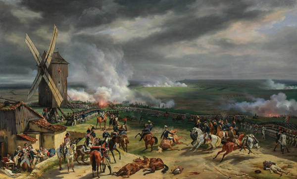 Victorious Painting - The Battle Of Valmy by Emile-Jean-Horace Vernet