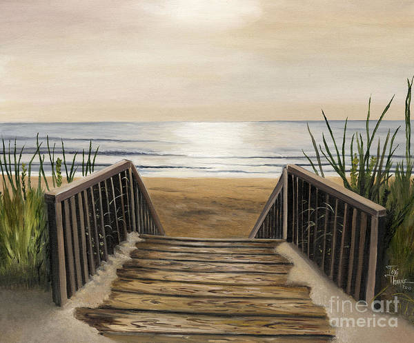 Wall Art - Painting - The Beach by Toni  Thorne