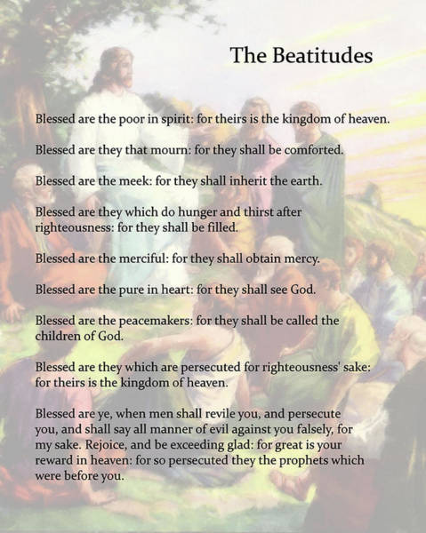 Drawing - The Beatitudes by Troy Caperton