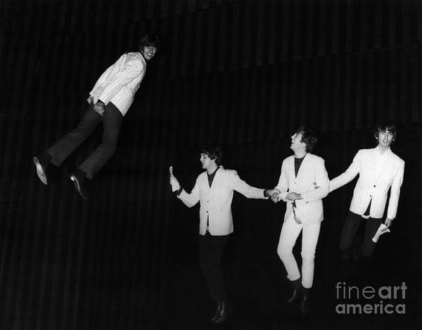 Bassist Wall Art - Photograph - The Beatles, 1964 by Granger
