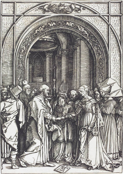 Drawing - The Betrothal Of The Virgin by Albrecht Durer