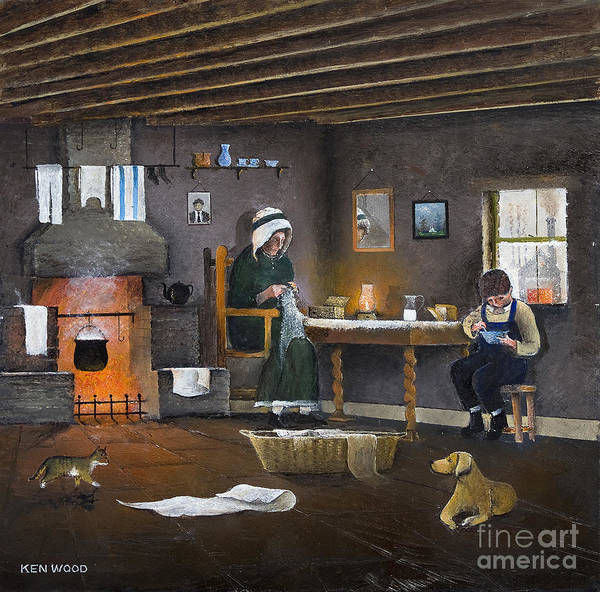 Painting - Nailers Dwelling - The Black Country by Ken Wood