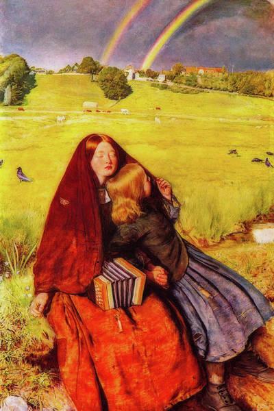 Millais Painting - The Blind Girl by John Everett Millais