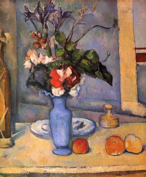 Painting - The Blue Vase by Paul Cezanne