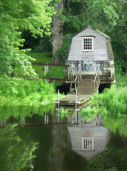 Photograph - Painted Effect - Boathouse by Susan Leonard