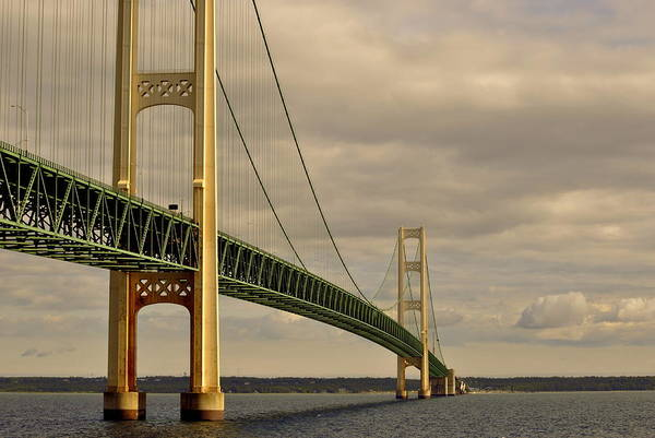 Michilimackinac Wall Art - Photograph - The  Mackinac Bridge by Marysue Ryan