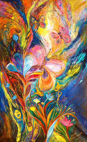 Priestly Blessing Painting - The Butterflies by Elena Kotliarker