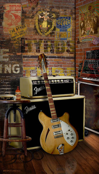 Bob Dylan Digital Art - the Byrds by Brian Florence