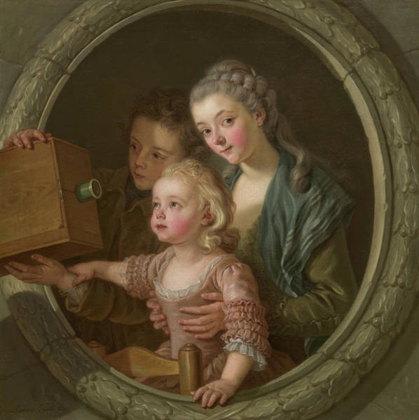 Painting - The Camera Obscura by Charles Amedee Philippe Van Loo