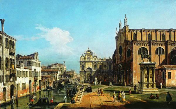 Painting - The Campo Di Ss. Giovanni E Paolo, Venice by Bernardo Bellotto