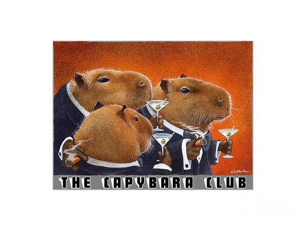 Painting - The Capybara Club by Will Bullas