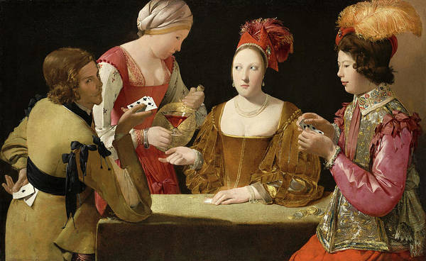 Gaming Painting - The Cheat With The Ace Of Clubs by Georges de La Tour