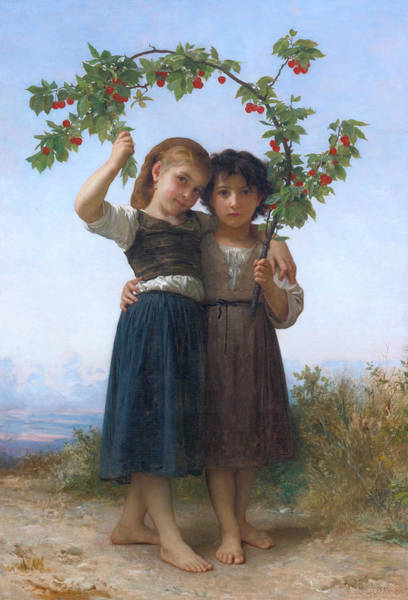 Painting - The Cherry Branch by William-Adolphe Bouguereau