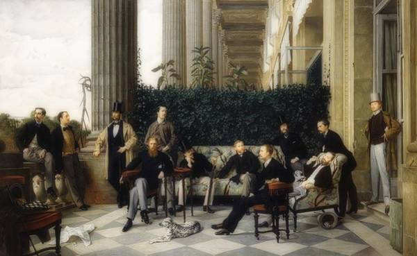Wall Art - Painting - The Circle Of The Rue Royale by James Tissot