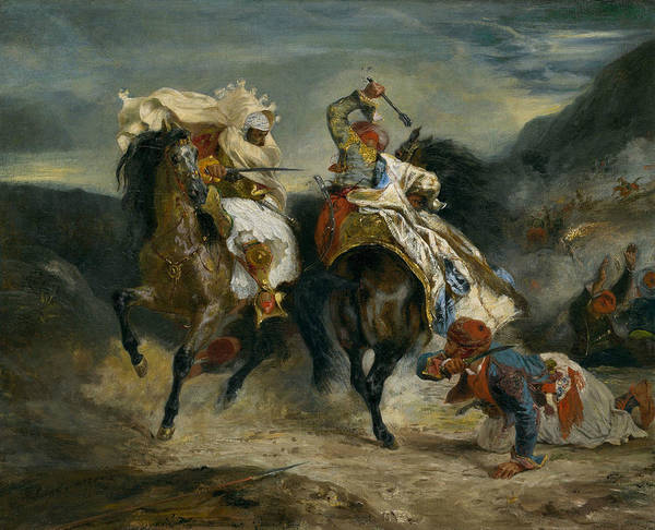 Painting - The Combat Of The Giaour And Hassan by Eugene Delacroix