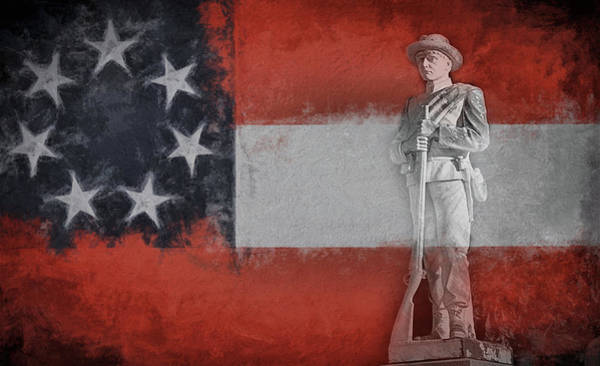 Wall Art - Digital Art - The Confederate Memorial by JC Findley