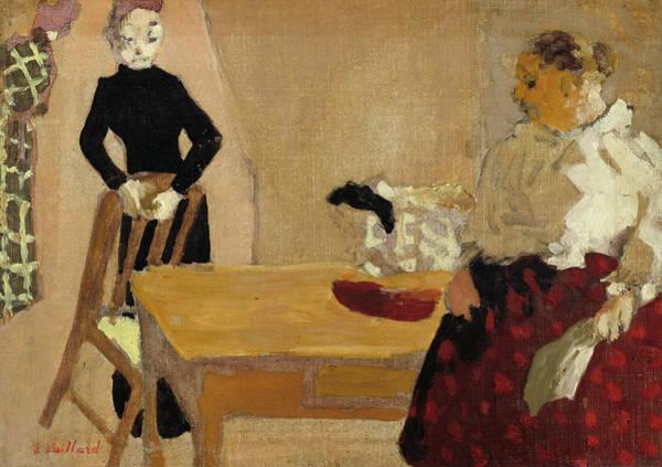 Painting - The Conversation by Edouard Vuillard