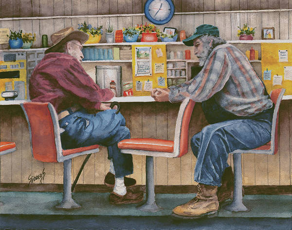 Painting - The Conversation by Sam Sidders