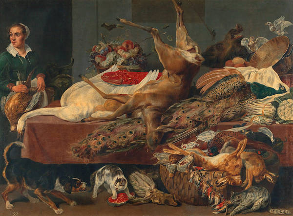 Service Dog Painting - The Cook In The Pantry by Frans Snyders