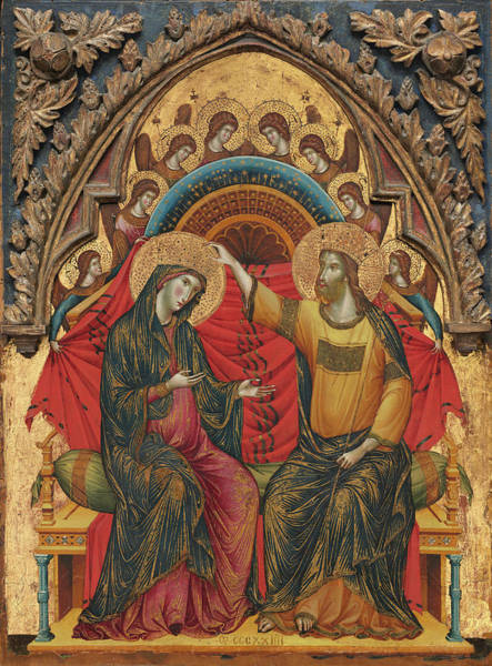 Painting - The Coronation Of The Virgin by Paolo Veneziano