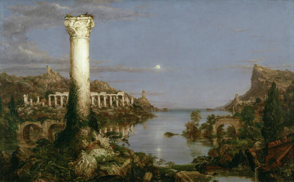 Photograph - The Course Of Empire Desolation by Thomas Cole