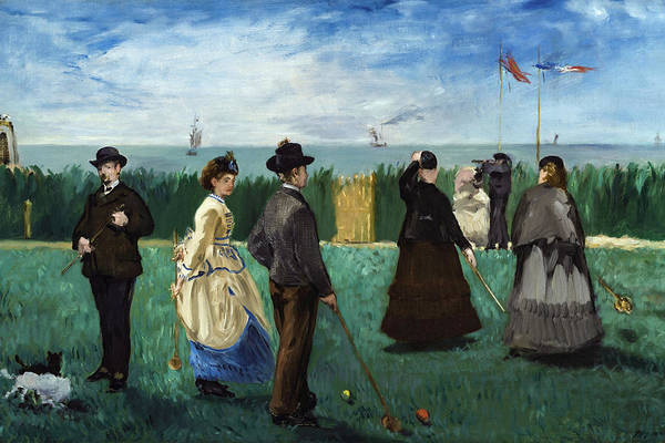 Hoops Painting - The Croquet Party by Edouard Manet