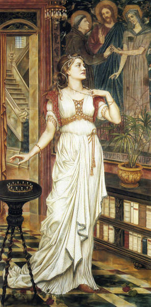 Wall Art - Painting - The Crown Of Glory by Evelyn De Morgan