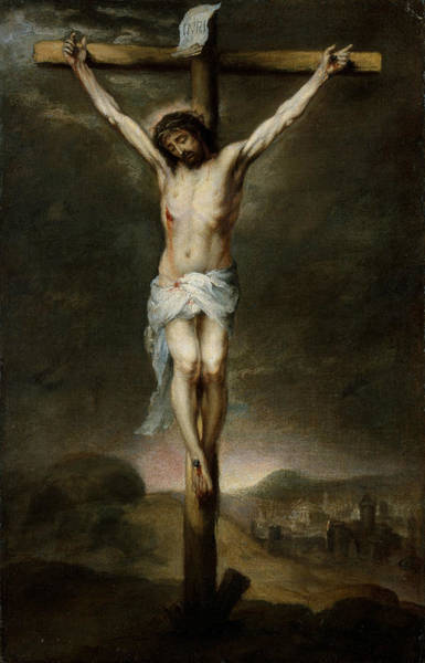 Wall Art - Painting - The Crucifixion by Bartolome Esteban Murillo