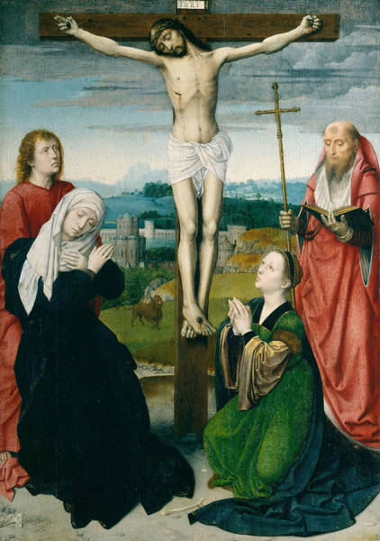 Redeemer Wall Art - Painting - The Crucifixion by Gerard David