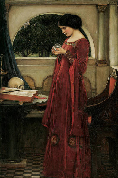Victorian Era Painting - The Crystal Ball by John William Waterhouse