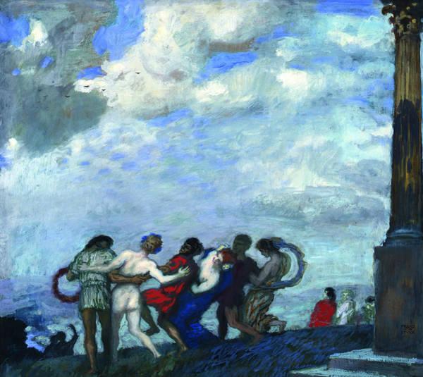 Franz Von Stuck Painting - The Dance by Franz von Stuck