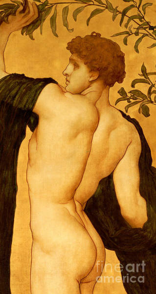 Bare Bottom Painting - The Dance Of The Cymbalists by Frederic Leighton