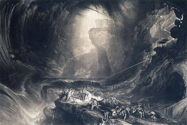 Wall Art - Painting - The Deluge by John Martin