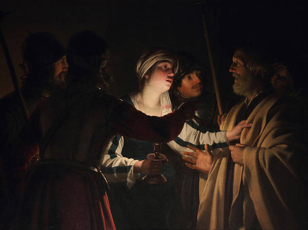 Denial Painting - The Denial Of Saint Peter by Gerard van Honthorst