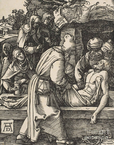 Printmaking Wall Art - Drawing - The Deposition by Albrecht Durer
