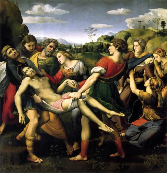 Redeemer Wall Art - Painting - The Deposition by Raffaello Sanzio
