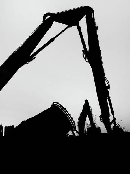 Excavator Photograph - The Destructors by Philip Openshaw