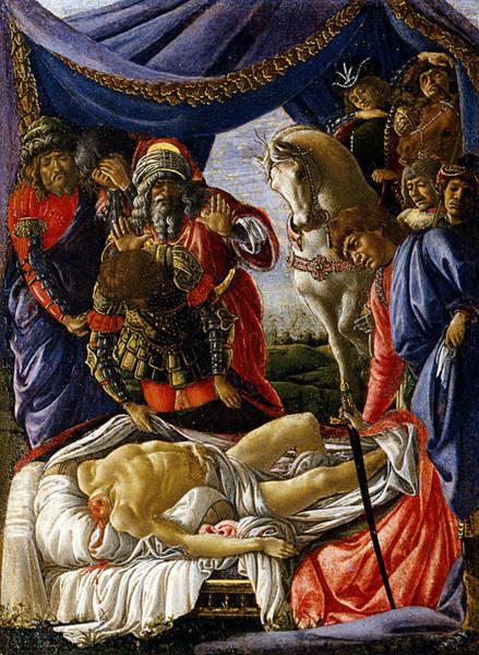 Sandro Botticelli Painting - The Discovery Of Holofernes' Corpse Judith Returns From The Enemy Camp At Bethulia by Sandro Botticelli