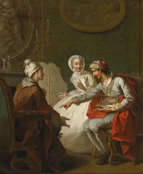 Painting - The Doctor's Visit by Etienne Jeaurat