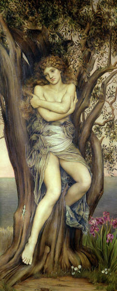 Dryad Wall Art - Painting - The Dryad by Evelyn De Morgan