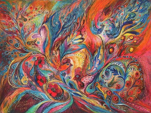 Chupah Wall Art - Painting - The Duel  by Elena Kotliarker