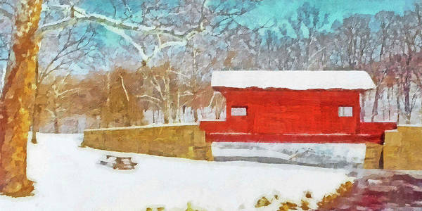 Digital Art - The Ebenezer Bridge In Winter by Digital Photographic Arts