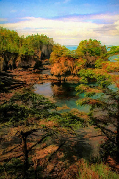 Painting - The Edge Of Cape Flattery by Dan Sproul