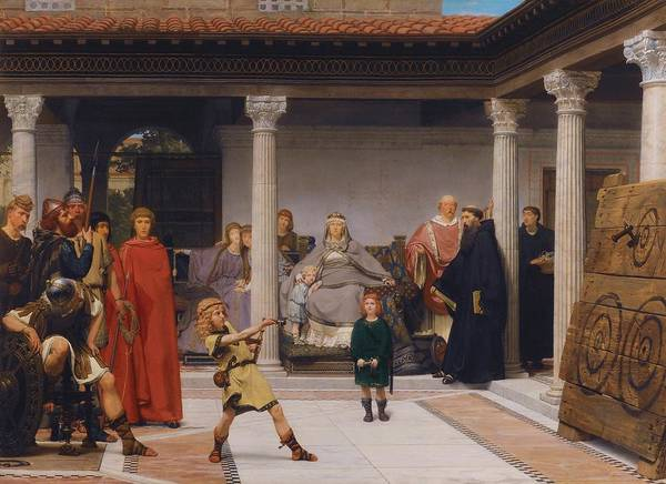 Clovis Painting - The Education Of The Children Of Clovis by Mountain Dreams