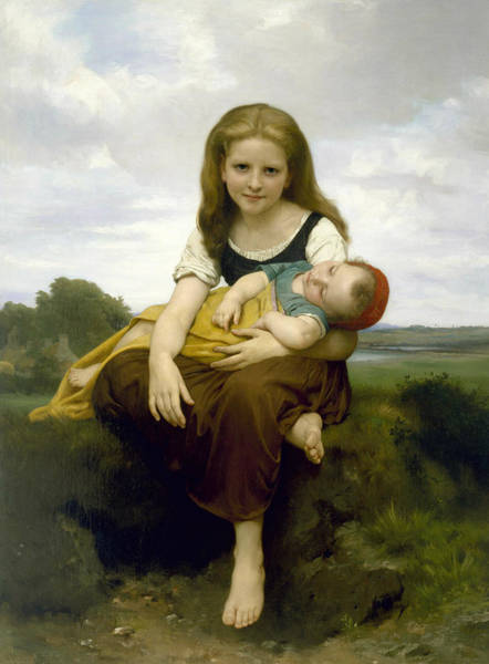 Painting - The Elder Sister by William-Adolphe Bouguereau